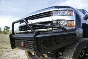 Fab Fours - Black Steel Front Ranch Bumper   Fab Fours (CH14-S3062-1) - Image 1
