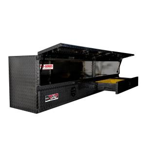 Brute High Cap Stake Bed Contractor Tool Box   Westin (80-TB400-96D-BD-B)
