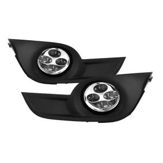 Daytime DRL LED Running Fog Lights   Spyder Auto (9031649)